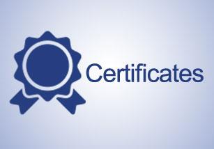 گواهینامه ها و عضویت ها